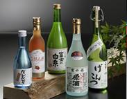 土産物ラインナップ:富士の地酒・酒造4社清酒
